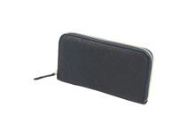 ボリュームのあるシボの山羊革を使用したラウンドファスナー長財布