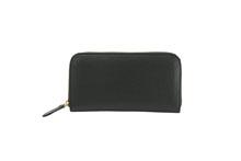 イタリアンレザーを使用した黒色のラウンドファスナー長財布