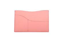 国産スムースレザー カードケース (さくら色)