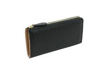 Mezzo Shrink L字ファスナー型 長財布 (ブラック)