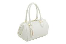 Mezzo Shrinkを使用した白色のハンドバッグ