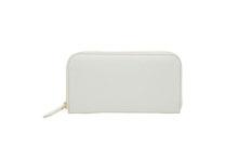 Mezzo Shrinkを使用した白色のラウンドファスナー長財布