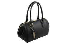ノブレッサカーフを使用した黒色のハンドバッグ