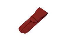 ノブレッサカーフを使用した赤色の2本差しペンケース