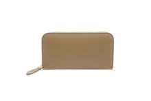 ノブレッサーカーフを使用したトープ色のラウンドファスナー長財布