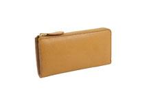 バケッタレザーを使用したナチュラル色のL字ファスナー長財布
