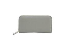 ドイツシュリンクを使用した灰色のラウンドファスナー長財布