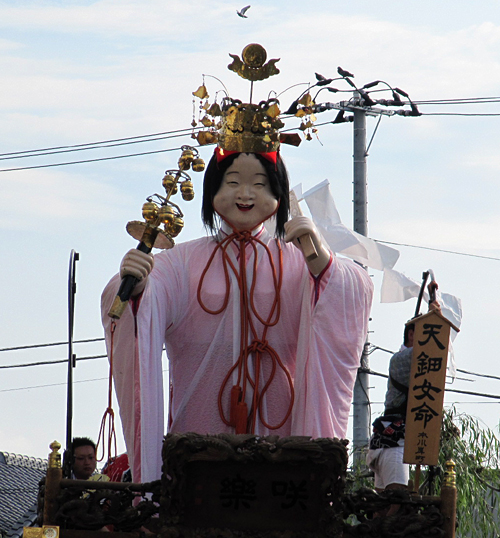 天鈿女命の人形が乗った山車