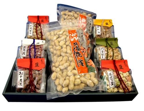 与三郎の豆 殻付き落花生と豆菓子セット 豆じまんC
