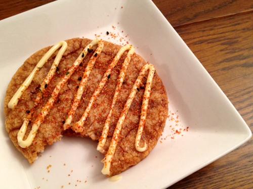 食べかけのぬれ煎餅