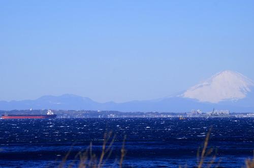 鋸南町から見た富士山