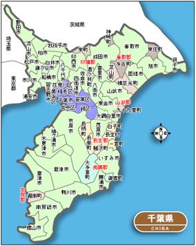 千葉の事故発生マップ