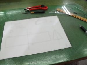 型紙の元になる設計図