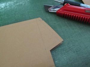 型紙とカッター