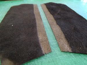 革漉きされた牛革