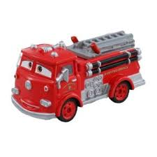 カーズのトミカ 消防車のレッド